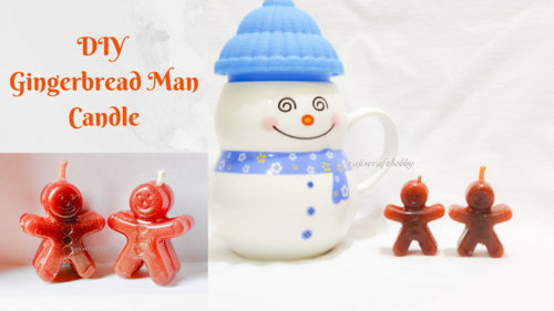 DIY Gingerbread Man Christmas Candles