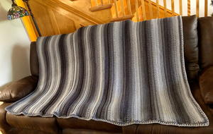 Textured Ombre Crochet Blanket
