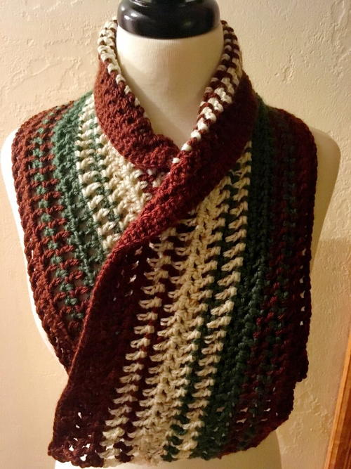 Alpine Meadow Crochet Scarf