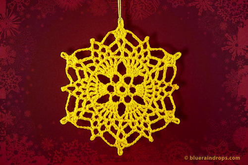Crochet Pineapple Snowflake