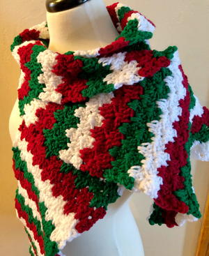 Joyful Holiday Crochet Scarf Pattern