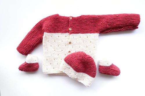 Strawberry Seed Baby Sweater