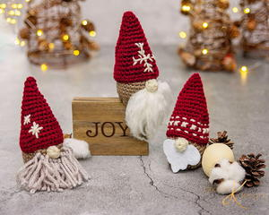 Gnome Santa Gift Ornament