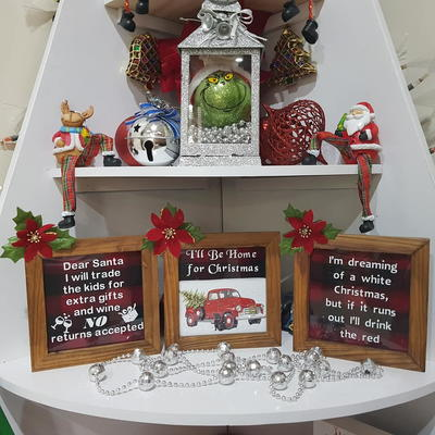 Photo Frame Christmas Signs