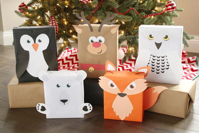 Animal-themed Gift Wrapping Templates