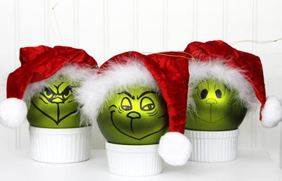 Diy Grinch Ornaments