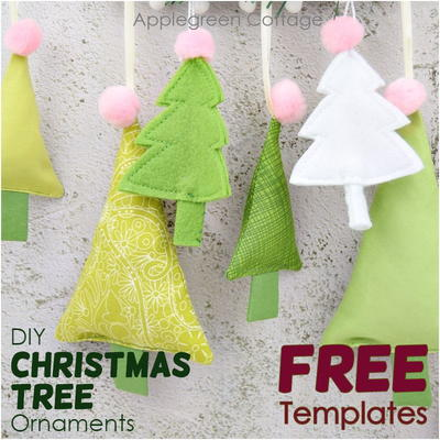 Diy Christmas Tree Ornament -2 Free Templates
