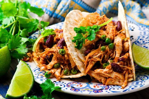 Slow Cooker Chicken Tacos (low Carb)