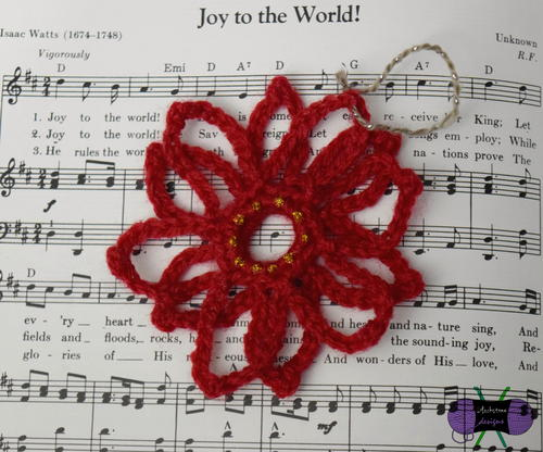 Poinsettia Lace Ornament