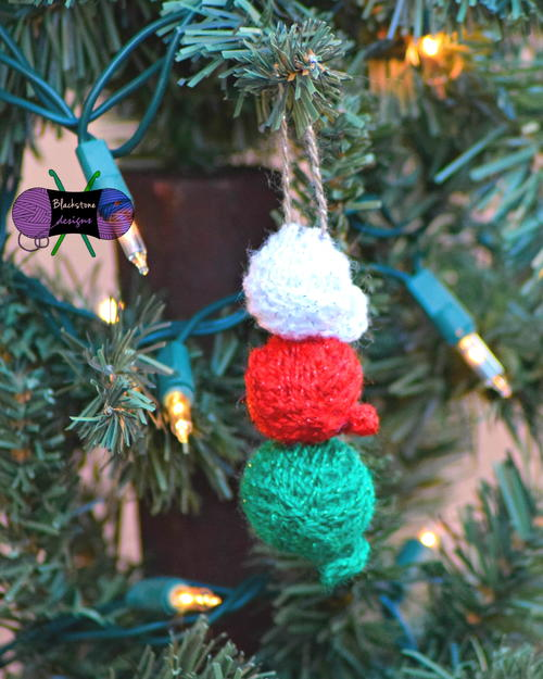 Stacked Yarn Ball Ornament