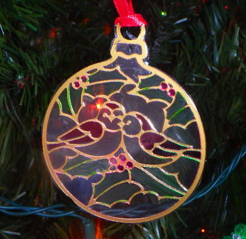 Fabulous Faux Stained Glass Christmas Ornament