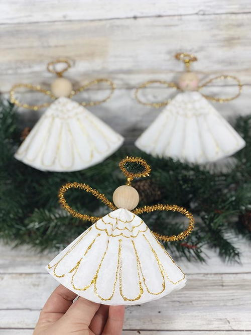 Coffee Filter Angels Christmas Ornament Craft