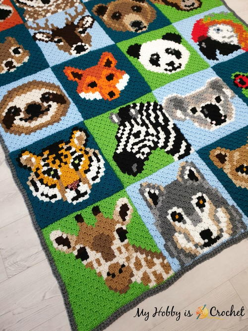 Wildlife Graphghan