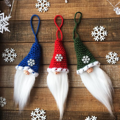 Santa Gnome Christmas Ornament