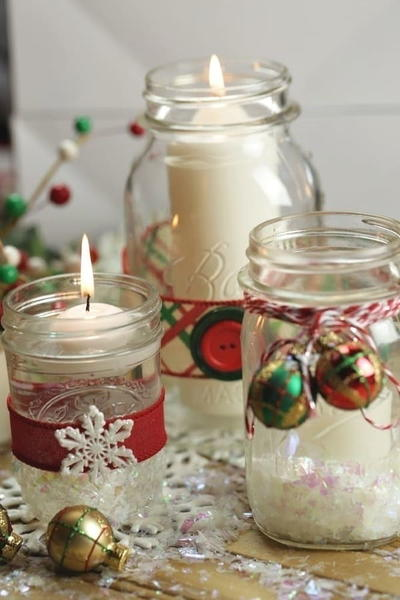 Mason Jar Christmas Candles