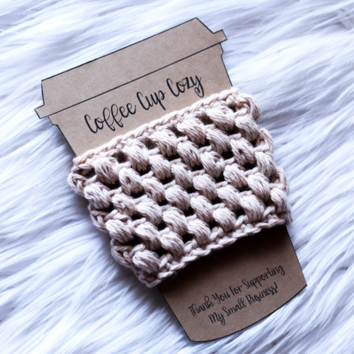 Puff Stitch Coffee Cozy