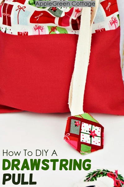 How To Diy A Drawstring Pull - Cover Drawstring Ends The Cute Way!