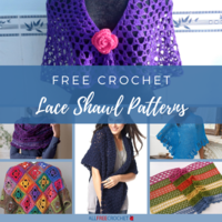 30+ Free Crochet Lace Shawl Patterns