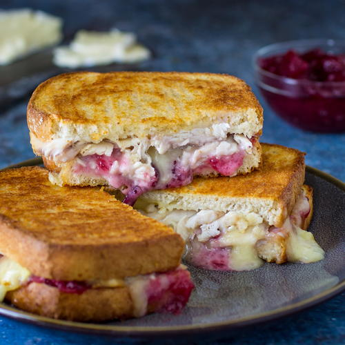 Brie Grilled Cheese With Turkey