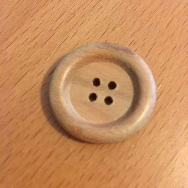 Wood button.
