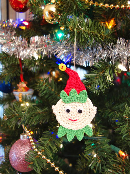 Crochet Elf Christmas Ornament