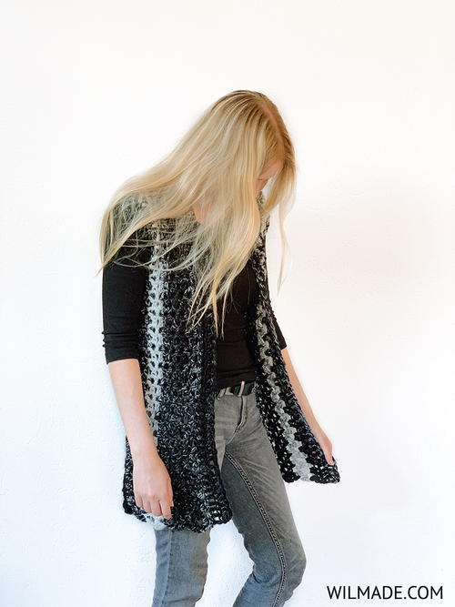 Long Poncho Cardigan