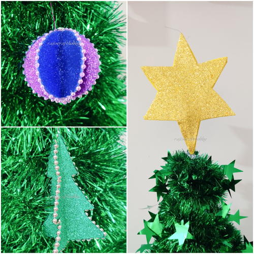 Diy Glitter Paper Christmas Ornaments
