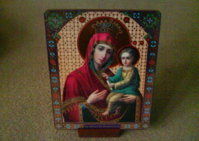 DIY Religious Icons With Wooden Support