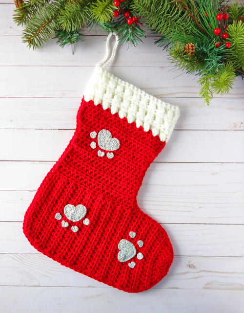 Crochet Stocking For Your Furry 4-legged Friends