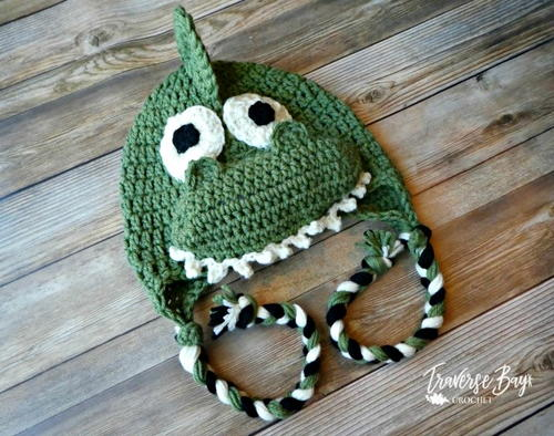 Dinosaur Braided Earflap Hat