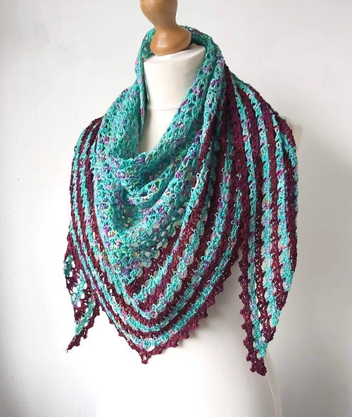 Liath Crescent Shawl