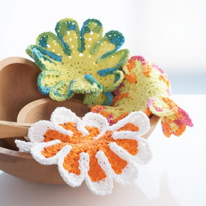 Flower Shaped Dishcloths