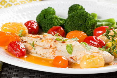 Tomato Skillet Fish Fillets
