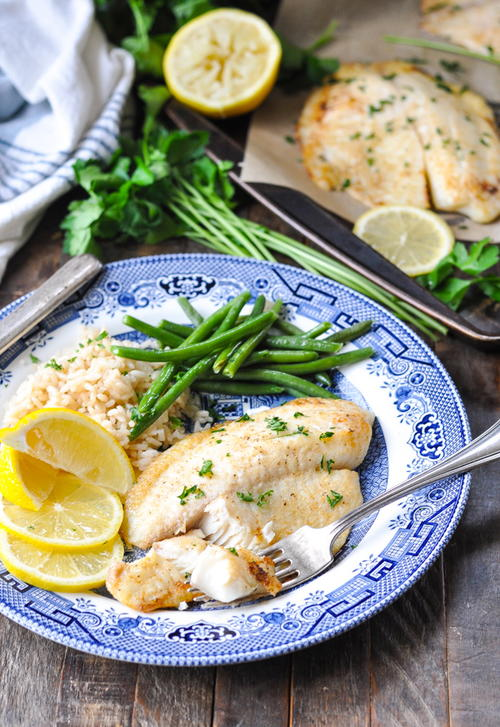 Baked Tilapia With Lemon And Garlic