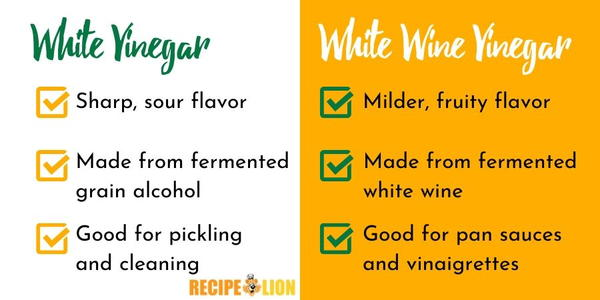 White Vinegar vs White Wine Vinegar