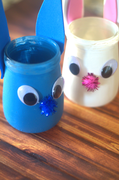 Fox And Bunny Jars Kids Craft