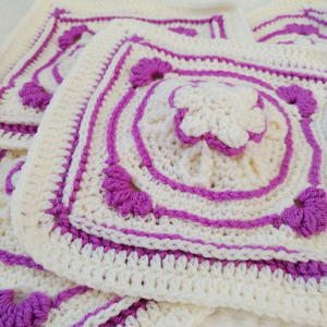 Winter Jewels Amethyst Flower Granny Square