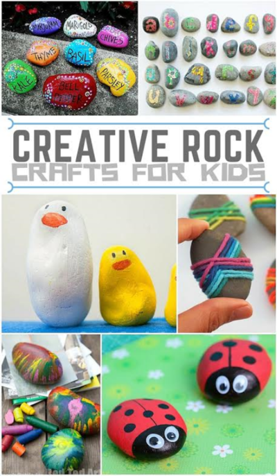 Creative Rock Crafts For Kids