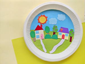 Perfect Paper Plate Town Kids Craft