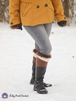 Fur Trimmed Boot Cuffs