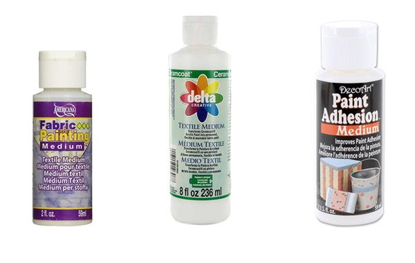 Examples of adhesion mediums commonly found in craft stores
