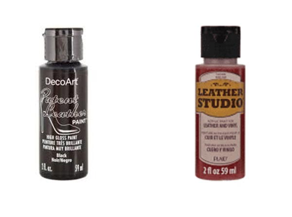 Two specialty paints on the market for painting vinyl and painting leather