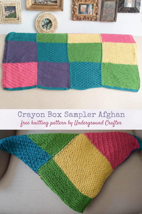 Crayon Box Sampler Afghan