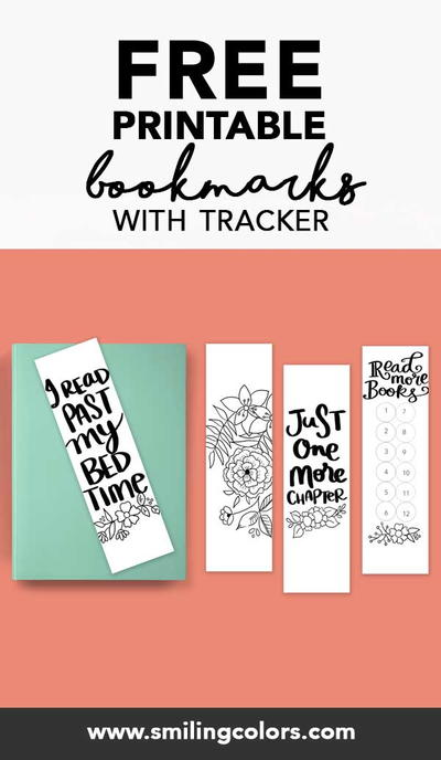 Free Book Tracker Printable Bookmarks