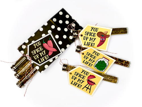 Diy Spice Tube Valentines With Free Printable Valentines Day Gift Tags