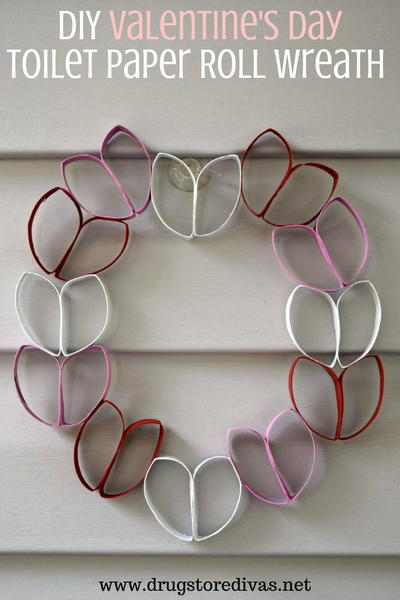 Diy Valentine's Day Toilet Paper Roll Wreath
