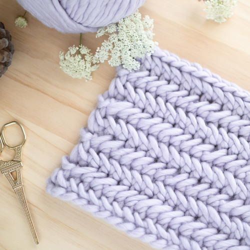 Herringbone Single Crochet Stitch