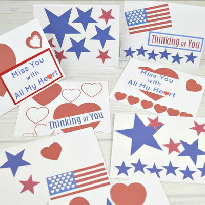 Cards To Support Our Troops – Free Printable