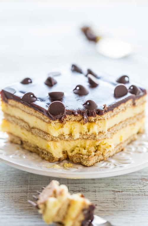 Homemade Boston Cream Icebox Cake