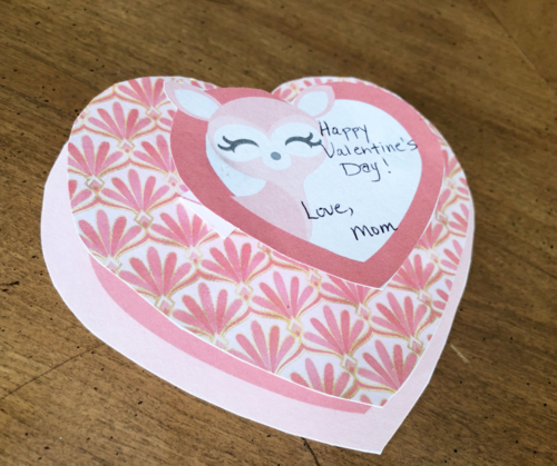 Valentine Deer Craft + Free Printable